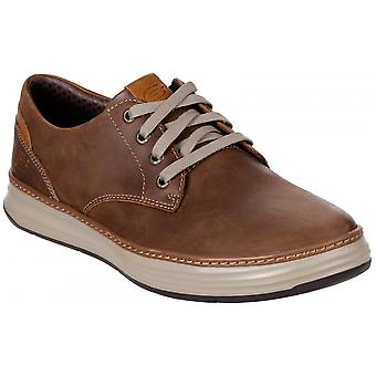 Skechers Moreno Gustom Slip On Leather Standard Fitting Shoes