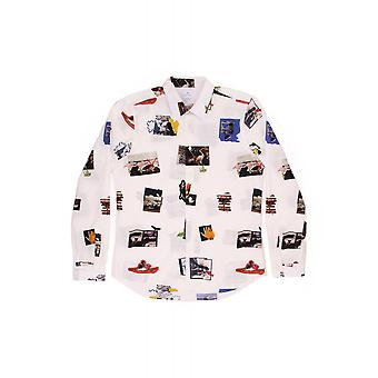 PS Paul Smith Tailored Fit Ls Picture Print Shirt