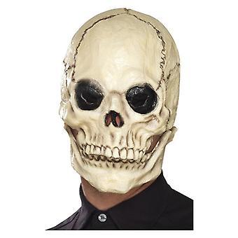 Schädel-Maske, weiß, Schaum Latex, voller Overhead, mit separaten beweglichen Kiefer Kostüm Zubehör