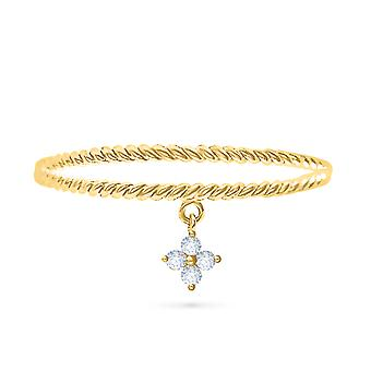 Ring Hanging Fairy 18K Gold and Diamonds