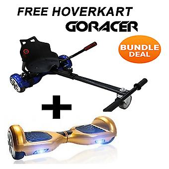 "GoRacer Hoverkart mit 6.5""Classic Gold Bluetooth Hoverboard Segway"