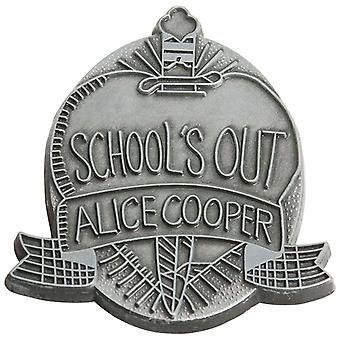 Alice Cooper Schools Out Crest Logo Official New Grey Pin Badge