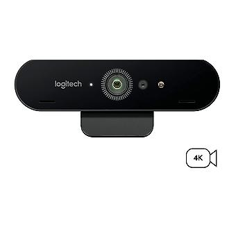 Logitech brio stream webcam, ultra hd 4k streaming edition, 1080p/60fps hyper-fast streaming, wide adjustable field of view for gaming; black