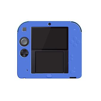 For Nintendo 2DS Soft Silicone Handheld Console Protector Skin Cover Shell Case[Blue]