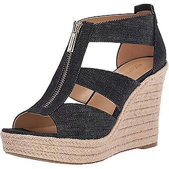 Michael Michael Kors Damita Platform Wedge Sandals Size 7.5 Dark Denim