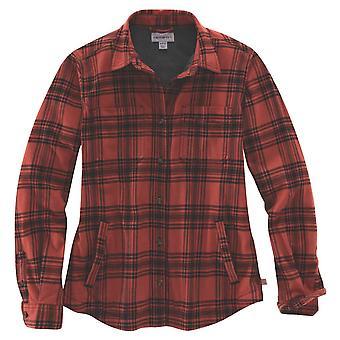 Carhartt Womens Hamilton Xadrez Flanela Jaqueta camisa de camisa