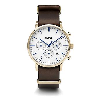 Cluse CW0101502009 Aravis Chronograph Brown Nato Leather Wristwatch