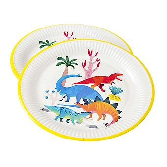 Dinosaur paper Party Plates x 8 - Childrens party accessories