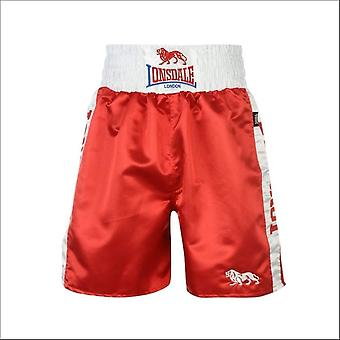 Lonsdale pro large logo trunks - red & white
