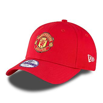New Era Kids 9Forty Adjustable Cap - Manchester United Red