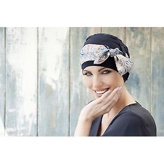 Headwear para pacientes de quimioterapia | Yanna Navy Mosaica Linea