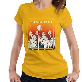 Miami Vice Palm Tree Art Women's T-Shirt
