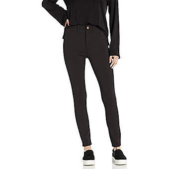 Brand - Daily Ritual Women's Ponte Faux-5 Pocket Flat-Front Legging, Black , Large
