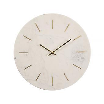 Libra Furniture Brass Inlay Et Horloge murale en marbre