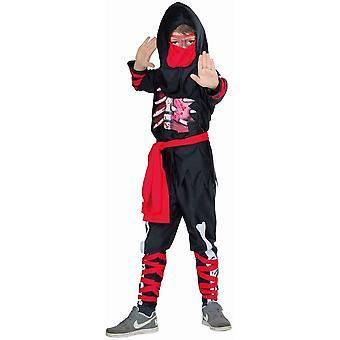 Dead Ninja Kinder Krieger Kämpfer Kostüm Ninjakrieger 2-teilig