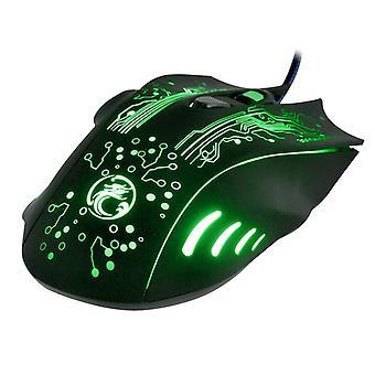 Mouse da gioco ottico Estone X9 USB 6 5000 DPI