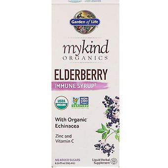 Garden of Life, MyKind Organics, Elderberry Immune Syrup, 6.59 fl oz (195 ml)