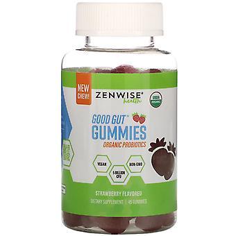 Zenwise Health, Good Gut Gummies, BioTicics, Strawberry, 45 Gummies