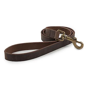 Ancol Heritage Latigo Leather Lead - 19mm x 1.3m - Havana