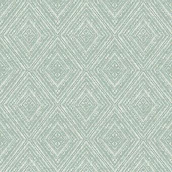 Imani Geometric Wallpaper Soft Teal Holden 65674