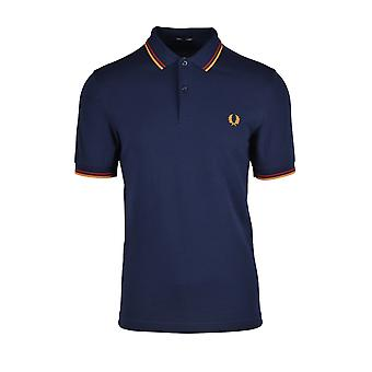 Fred Perry Twin Tipped Polo Shirt Dark Carbon/rot/amber