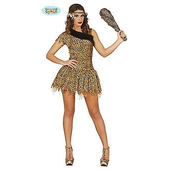 Stenalderen Leopard kostume til damer Carnival hulemand Neandertalerin