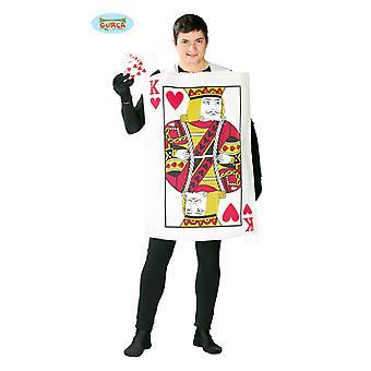 Cartão de jogo de baralho traje fantasia único tamanho cartão masculino
