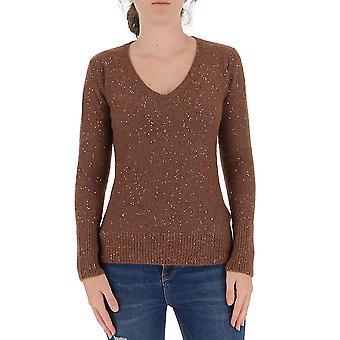 Fabiana Filippi Mad220b674v6091220 Femmes-apos;s Pull en laine brune
