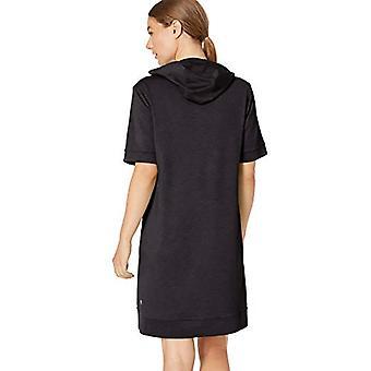 Brand - Core 10 Women's Soft Workout Hoodie Dress, Black Heather, M (8...