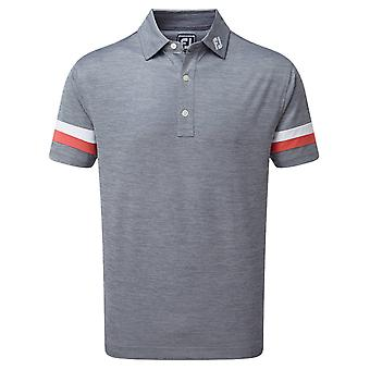 Footjoy Mens Pique Space Dye Vocht Wicking Golf Polo Shirt
