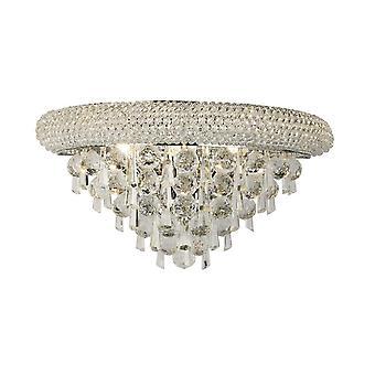 inspirert diyas - alexandra - vegglampe medium 3 lys polert krom, krystall