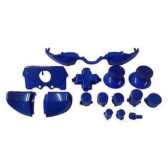 Full button set for xbox one 1697 & xbox one e 1698 model controllers replacement - blue | zedlabz