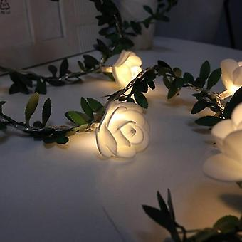 Rose Blume Led String Lights Batterie powered Hochzeit Valentine 's Day Event