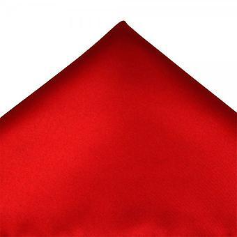 Legături Planet Plain Scarlet Red Pocket Square Batistă