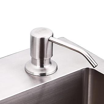 Kitchen Deck-mounted Hand Soap Dispenser, Stainless Steel Liquid Soap Bottle