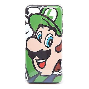 Nintendo Super Mario Bros. Luigi Face Phone Cover para Apple iPhone 5C