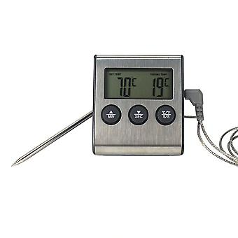 Digital Stainless Thermometer Waterproof Meat Temperature Probe Oven Cooking Bbq Temperature Meter