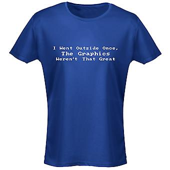 I Went Outside Once The Graphics Weren't That Great Funny Womens T-Shirt 8 Colours by swagwear