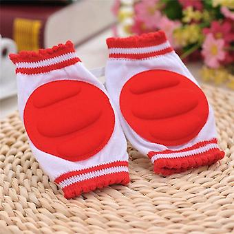 1 Pair Baby Knee Protection Pads- Cotton Leggings Warmers Safety Crawling Elbow Cushion Baby Crawling Pad For Children Boys / Girls