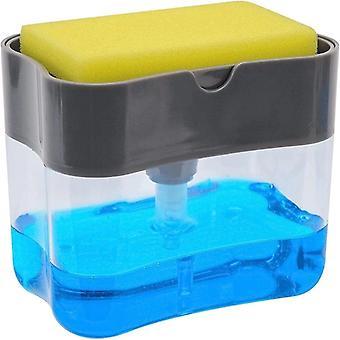 2-w-1 Sponge Rack Soap Dispenser 13 Uncji Mydło Pompa & Sponge Caddy Łazienka / Kuchnia Organizator Akcesoria do czyszczenia gospodarstw domowych