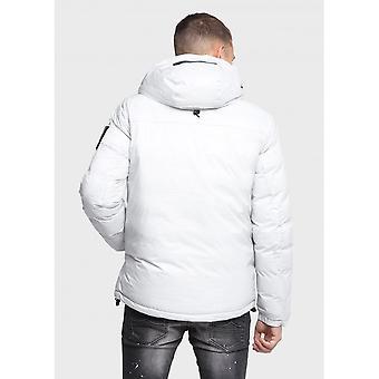 883 Police Packing Reversible Ice Grey/black Hooded Jacket