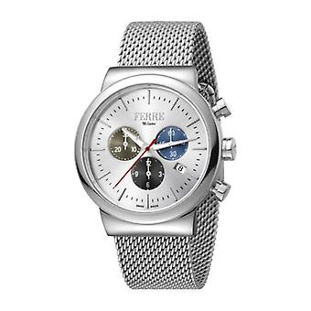 Ferre Milano Men's FM1G106M0041 Chronograph Stainless Steel IP Mesh Date Watch