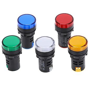 22mm Panel Mount Led Power Electronic Indicator Pilot Signal Light Lamp  12v 24v 110v 220v 380v