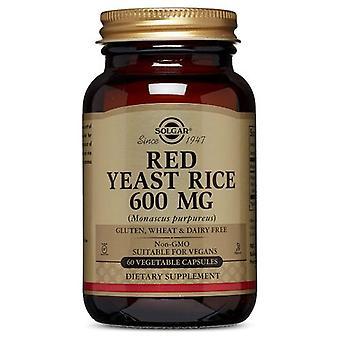 Solgar Red Hefe Reis, 600 mg, 60 Veg Caps