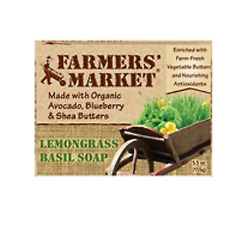 Farmers market Organic Bar Soap, LemonGrass & Basil 5.5 oz