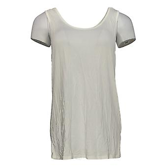 Women with Control Women's Top Ruffle Lace Tunic And Tank White A350623