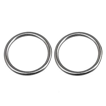 2PCS Stainless Steel O Round Yoga Webbing Connector Ring Dia 2.16Inch