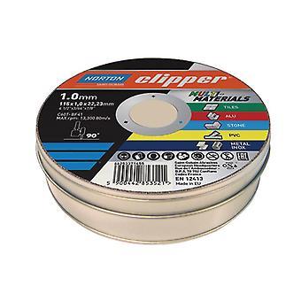 Flexovit Clipper® Multi-Materials Cutting Discs 115 x 22.23mm (Pack 10)
