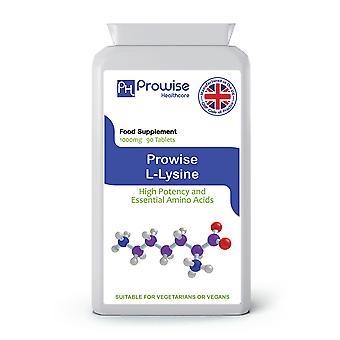 L-Lysine 1000mg – 90 Tablets | Suitable For Vegetarians & Vegans | Made In UK
