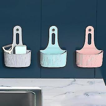 Silicone Shelf Soap Sponge Drain Rack - Storage, Bathroom Holder